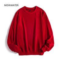 MOINWATER Kadınlar Casual Sweatshirt Lady Yeni Streetwear Kapüşonlular Kadın Terry Beyaz Siyah Hoodie Dış Giyim MH2002 200.924 Tops
