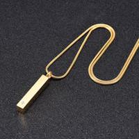 Ciondolo impermeabile IJD9918 acciaio inossidabile cremazione Keepsake Piazza intarsio di cristallo per Ash Urna Souvenir Memorial collana