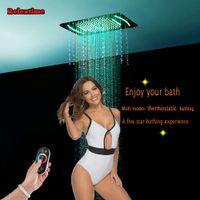 새 스타일 크리스탈 석영 시리즈 SPA 노즐 라이트 LED 천장 샤워 헤드 강수량 폭포 안개 DJ5301 스프레이 탑재 된 임베디드