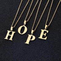 Kolye Kolye Paslanmaz Çelik İlk Mektup A-Z Kolye Kadınlar Için Çift Altın Zincir Collier Mujer Takı
