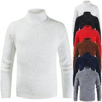 Slim Bottom Shirt Winter Designer Pullover Sweater Luxury Mens Solid Color Sweater Fashion