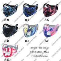 New Gesichtsmaske aktiviert Anti-Pollution Schutz Outdoor Gear Masken Männer Frauen Anti-Staub-Droplet-Gesichtsmaske mit Filter für Radfahren
