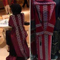 Moda yeni elmas kakma Mübarek Dubai Femme Türk Lüks Tesettür Müslüman Elbise Afrika Abaya İçin Kadınlar Kaftan islam Giyim