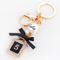 Brand Perfume Bottle Keychain Luxury Key Chain Fashion Key R...