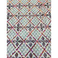 Femmes robes en dentelle carrés net tissu de motif de paillettes colorées et motif diamant ADP36 pas cher Prix français Tulle Dentelle Tissu