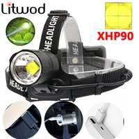 Фары Z40SUPER яркий XHP90 USB аккумуляторные светодиодные фары XHP70 самые мощные фары рыбалка кемпинга зум-факел на 3 * 18650 аккумулятор