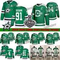 Dallas Stars Jersey 2020 Stanley Cup Finals 14 Jamie Benn 91 Tyler Seguin 4 Miro Heiskanen 30 Bishop 16 Joe Pavelski Hockey-Trikots