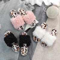 레오파드 프린트 코튼 슬리퍼 여성 홈 플립 플롭 가을 겨울 봉제 슬리퍼 모피 슬라이드 실내 모피 홈 신발