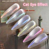 Chunshu 1g Aurora Neon Pigment-Puder Transparent Chamäleon Nail Art Cat Eye Gel Polish Chrome Flakes Nagel-Dekorationen Maniküren
