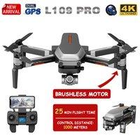 Дроны XKJ GPS Drone L109 Pro Бесщеточный мотор с 4K HD Dual Camera Professional Складной Quadcopter 1000M RC Расстояние Игрушка