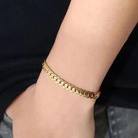 Кубинские цепи Золотого браслет для мужчин Женщин Lovers Punk Hip Hop из нержавеющей стали высокого качества моды Curb браслет Заявления ювелирных изделий