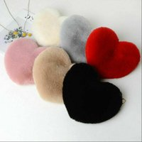 Fashion Womens Plush Love Shoulder Bag Designer Hairy Heart ...