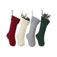 Noel Akrilik Örme Çorap Noel ağacı Asma Hediye Çorap Noel Partisi Şeker çorap Örme Çorap Çanta HHD1473