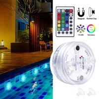 Обновление 13 LED RGB Погружного свет с магнитом и присоской бассейн Свет Подводного чая Night Light для пруда