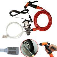 htmotostore 70W 130PSI 6L / 최소 고압 자동차 전기 세탁기 세척 펌프 DC 12V 청소 세트