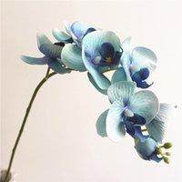 Fleurs décoratives Couronnes Artificielles Butterfly Orchidée 7 Têtes Faux Fleur De Mariage Fête Decor de la maison 72cm