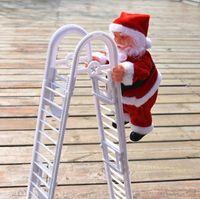 هدية عيد الميلاد دمى سانتا كلوز تسلق الكهربائية سلم شجرة عيد الميلاد الحلي عيد الميلاد لعب الاطفال هدايا شنقا دمية الديكور LSK1163
