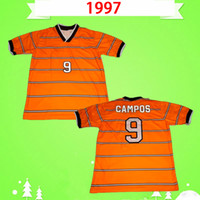Top Thailandia 1997 Cruz Azul Futbol Club Retro Soccer Jerseys Vintage Mexico Men Classic Camicie da calcio Arancione