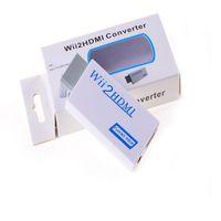 Wii 2 Adaptörü Dönüştürücü Destek Doldurma FullHD 720 P 1080 P 3.5mm Ses Wii2HDMI Kablo Adaptörü HDTV Wii Converter MQ100 Için