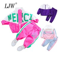 2020 Autumn Children Clothing Boys Girls Clothes Suit Baby Solid zipper Jacket Pants 2Pcs sets fashion Toddler Kids Tracksuits LJ200916