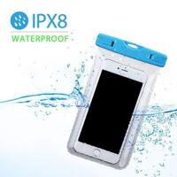 Bolsa impermeable noctiluciente PVC Bolsa de teléfono móvil protectora de la bolsa de la bolsa para saltar deportes de natación para el teléfono
