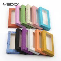 Comerci 50 pc di carta Ciglia Scatole Ciglia finte Packaging Faux Mink Lashes Casella in bianco Glittering Box per In Bulk