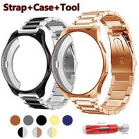 Reloj Bands Strap + Case 20 / 22mm Banda para Samsung Gear S3 Frontier Strap Galaxy 46mm 42 Acero inoxidable TPU Funda protectora