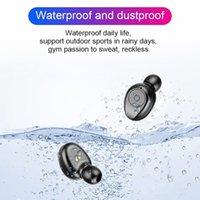 Nuevo TWS Bluetooth v5.0 auriculares auriculares inalámbricos Estéreo Deporte Auriculares inalámbricos Auriculares Auriculares para iPhone Xiaomi Black