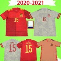 남자 + 키즈 2020 스페인 축구 유니폼 홈 멀리 20 21 Camiseta de Fútbol Sergio A.Iniesta Ramos ISCO 국립 대표팀 축구 유니폼 셔츠