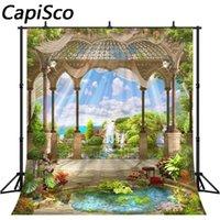 Landscape Photography Capisco Seaside Pavilion Garden Fundos Para Photo Studio Vinil sob encomenda da foto backdrops Props