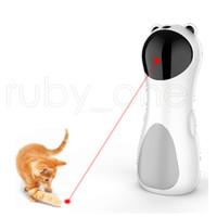 Otomatik Dönen Kızılötesi Lazer Komik Pet Köpek Kedi Kızılötesi Lazer Oyuncak Dört Hızlı Döner Modu Lazer Mesafe Ayarlanabilir Kedi Oyuncakları RRA3587