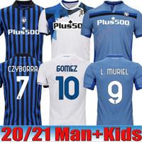 20 21 Atalanta Futebol MURIEL 2020 2021 Atalanta BC maglia da calcio DUVAN Football Shirt Iličić Pašalić GOMEZ Homens Crianças Kit uniforme