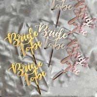 2020 Rose oro Novia a ser Suministros temático partido de la torta Plugin partido de gallina del postre de la boda del partido de la decoración de la torta de acrílico de la torta