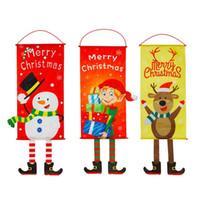 عيد الميلاد العلم ثلج الكرتون قماش النافذة جدار زخرفة عيد الميلاد التمرير أعلام راية العلم حديقة حزب SuppliesT2I51428