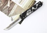 2 Estilo de combate de Microtech UTX70 cuchillos de hoja de acero del cuchillo de Troodon Interceptor cuchillo Hellhound Tanto Lanza punto D2 Cuchillo mano EDC