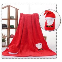 1pc Christmas Gifts Blankets Winter Soft Warm Creative Cartoon Santa Elk Snowman Christmas Flannel Blanket for Bed navidad F1017