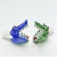 Bol en verre de 14 mm de style crocodile et bols de 18 mm Accessoires fumeurs pour GLAS Fuming Bong
