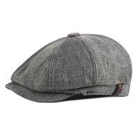 رجالية عادية قبعات قبعة القبعات الكتان لفصل الربيع الصيف الخريف في الهواء الطلق