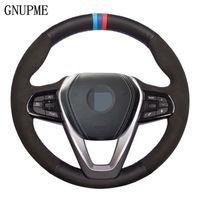 G20 G21 G30 G31 G32 X3 X5 G05 X7 G07 G01 X4 G02 Z4 G29에 대한 DIY 블랙 정품 가죽 스웨이드 자동차 스티어링 휠 커버