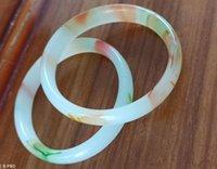 multicolore 56-60mm naturale Hetian giada braccialetto libero di trasporto
