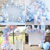 Stok Balon Zincir Kiti Ah Bebek Boy veya Kız Balon Arch Kiti Balon Garland Bu Benim İlk Doğum Günü Balonlar Seti Ballon