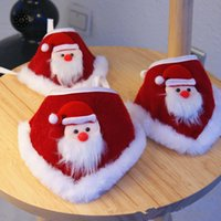 Hundekragen Leinen einstellbar handgemachtes Schal Katze Santa Claus Dreieck Lätzchen Haustier Weihnachtskostüm Zubehör