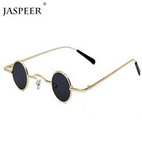 JASPEER New Sunglasses Men Women Retro Punk Style Metal Frame Vintage Round Sunglasses UV400 Eyewear