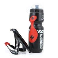 650ml Fahrrad Mountainbike Radfahren Wasser-Getränk-Flasche + Halter-Rahmen Tragbarer Cup Flaschen Halt Regal