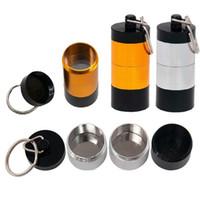 Caso Dabber 30ml Wax Herb Container liga de alumínio portátil Viagens 4 camadas de armazenamento pode com clip para a seco Herb Titular Concentrate