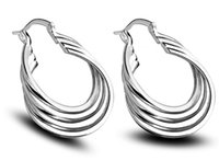 Groothandel - laagste prijs Kerstmis zilveren mode oorbellen E157