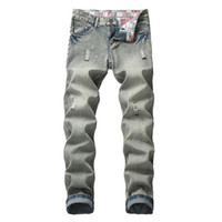 denim uomo fare jogging pantaloni uomini pantaloni in difficoltà grandi dimensioni dei ragazzi freddi dei jeans degli uomini del progettista jeans strappati i pantaloni di moda
