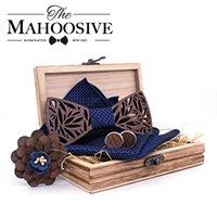 Деревянный галстук-бабочка набор и носовой носовой галстук галстук по репутации Homme Noeud Papillon Corbatas Hombre Pajarita подарок для мужчин Chirstmas