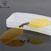DRESSUUP polarizada clip en gafas de sol de los hombres de conducción visión nocturna de la lente de los vidrios de Sun Masculino Anti-UVA UVB para las mujeres Oculos