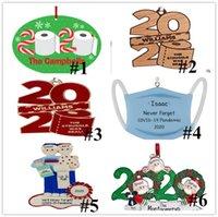2020 Рождественские украшения Персонализированные туалетной бумаги с талреп дерева украшения Деревянные Подвесной Новый год Home Decor сувениры партии подарков E92402